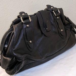 Perlina Black Leather Handbag